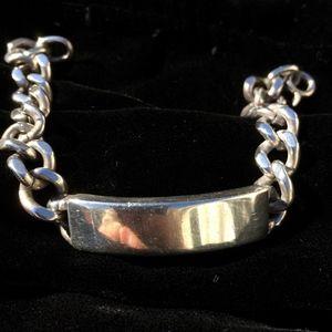 Tiffany-Style ID Bracelet Sterling